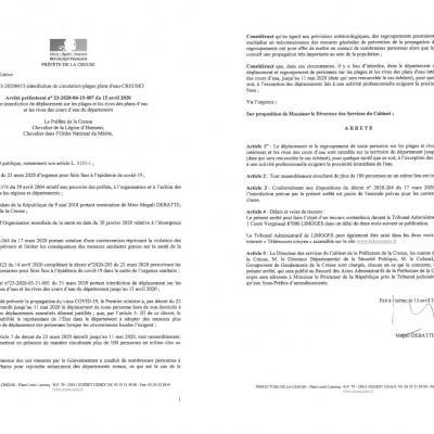 arrêté préfectoral interdiction déplacement plans d'eau